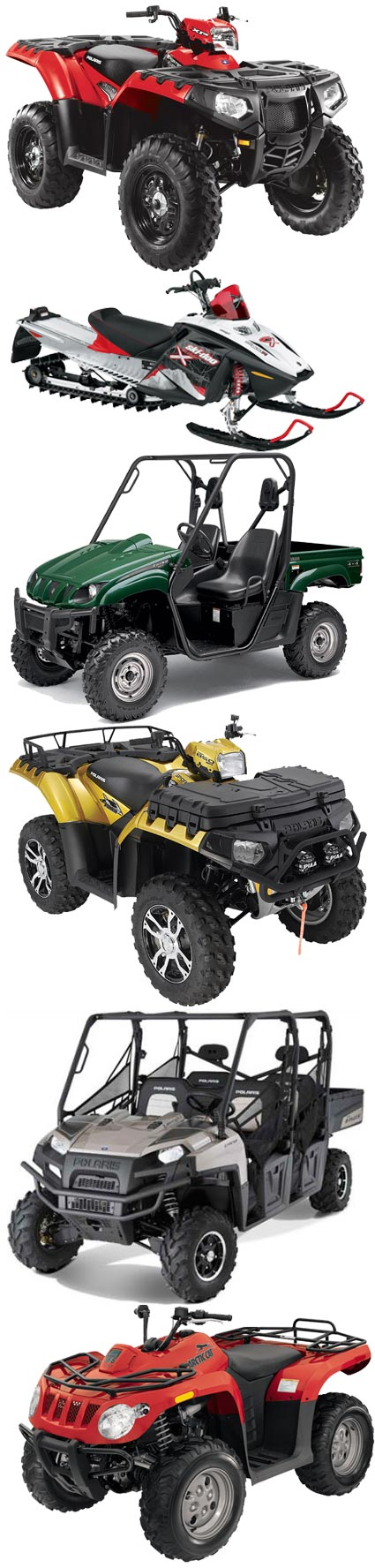 Ultimate ATV & Offroad Training vehicles